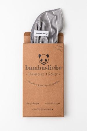 Bambusliebe Bambustuch Putztuch Produktbild verpackt