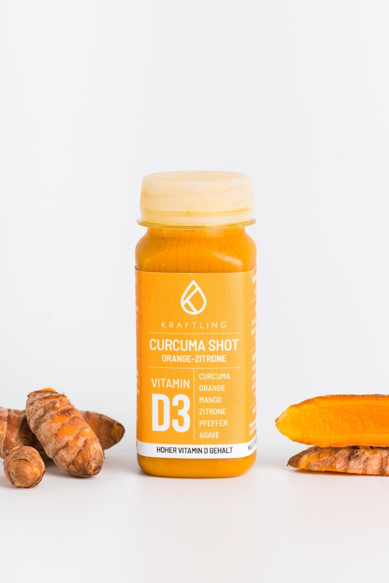 Curcuma shot Orange Zitrone Kraftling Produktbild 2
