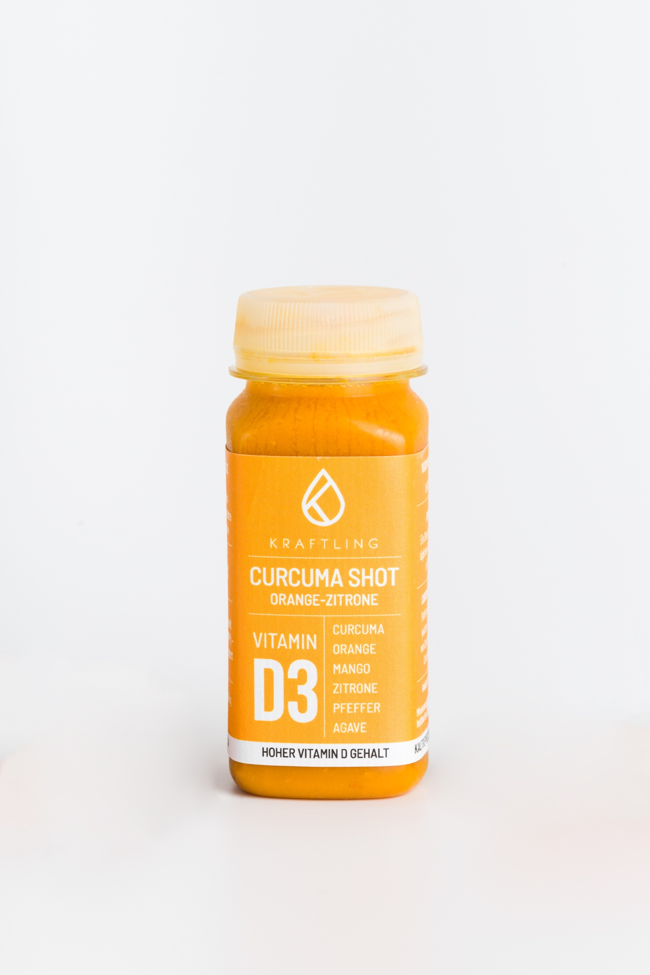 Curcuma shot Orange Zitrone Kraftling Produktbild