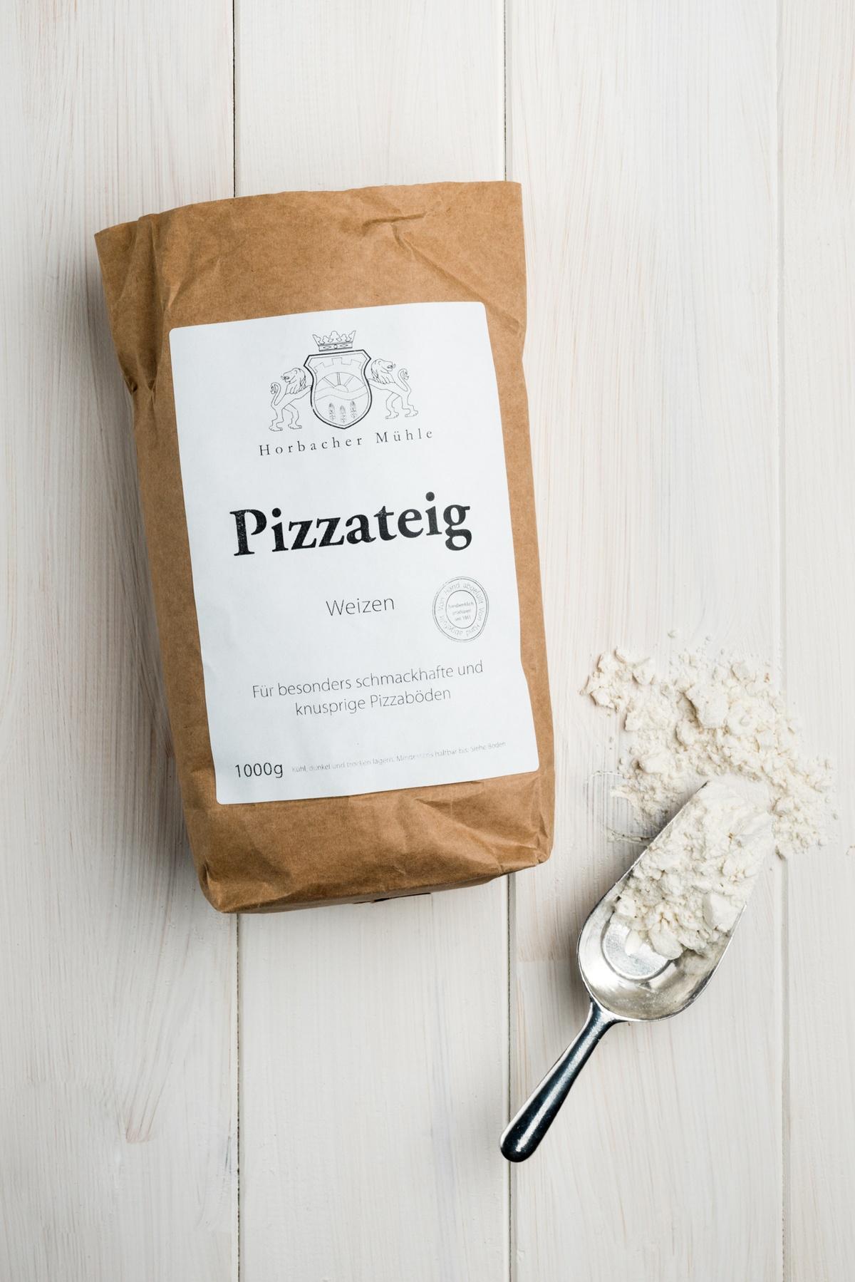 Backmischung für Pizzateig