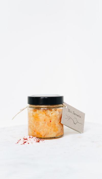 Fermentierter Kohl und Karotten