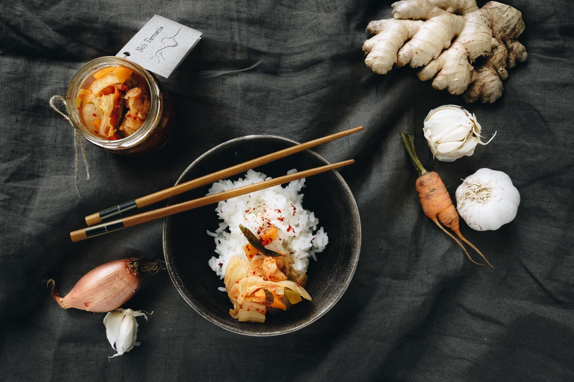 Reis mit Kimchi von Nu's Fermente