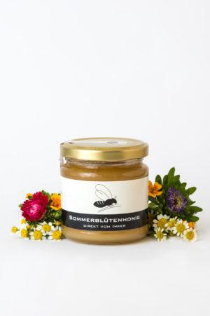 Sommerblütenhonig Gregas Imkerei Produktbild Blumen