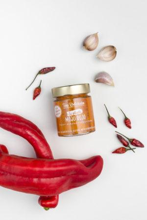 Die pikante Mojo Rojo aus Spitzpaprika, Knoblauch und Chili