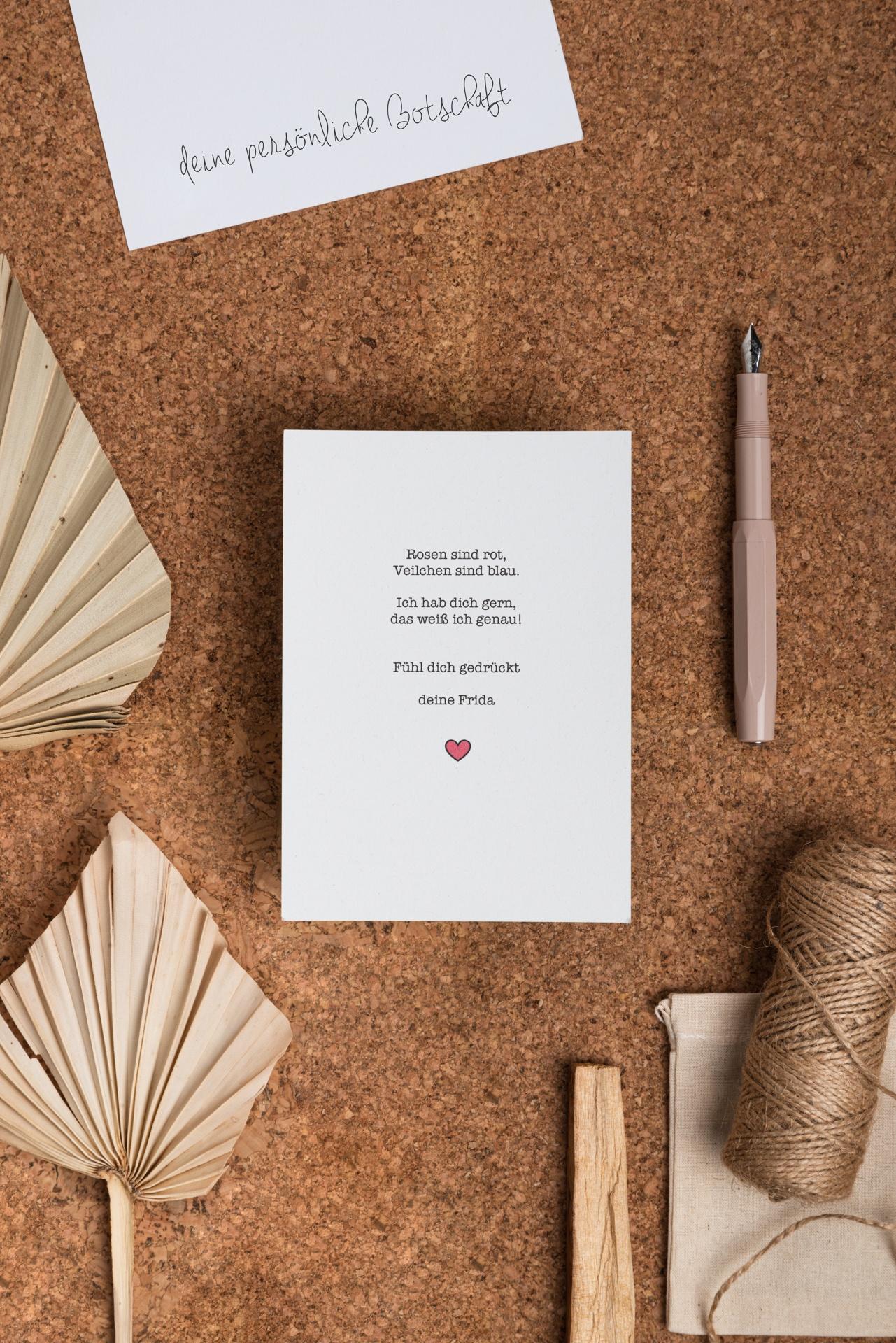 Persönliche Botschaft Karte Gedicht Upgrade
