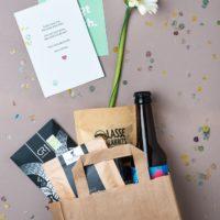 Upgrade Tüte Blume Konfetti Produkte Karten