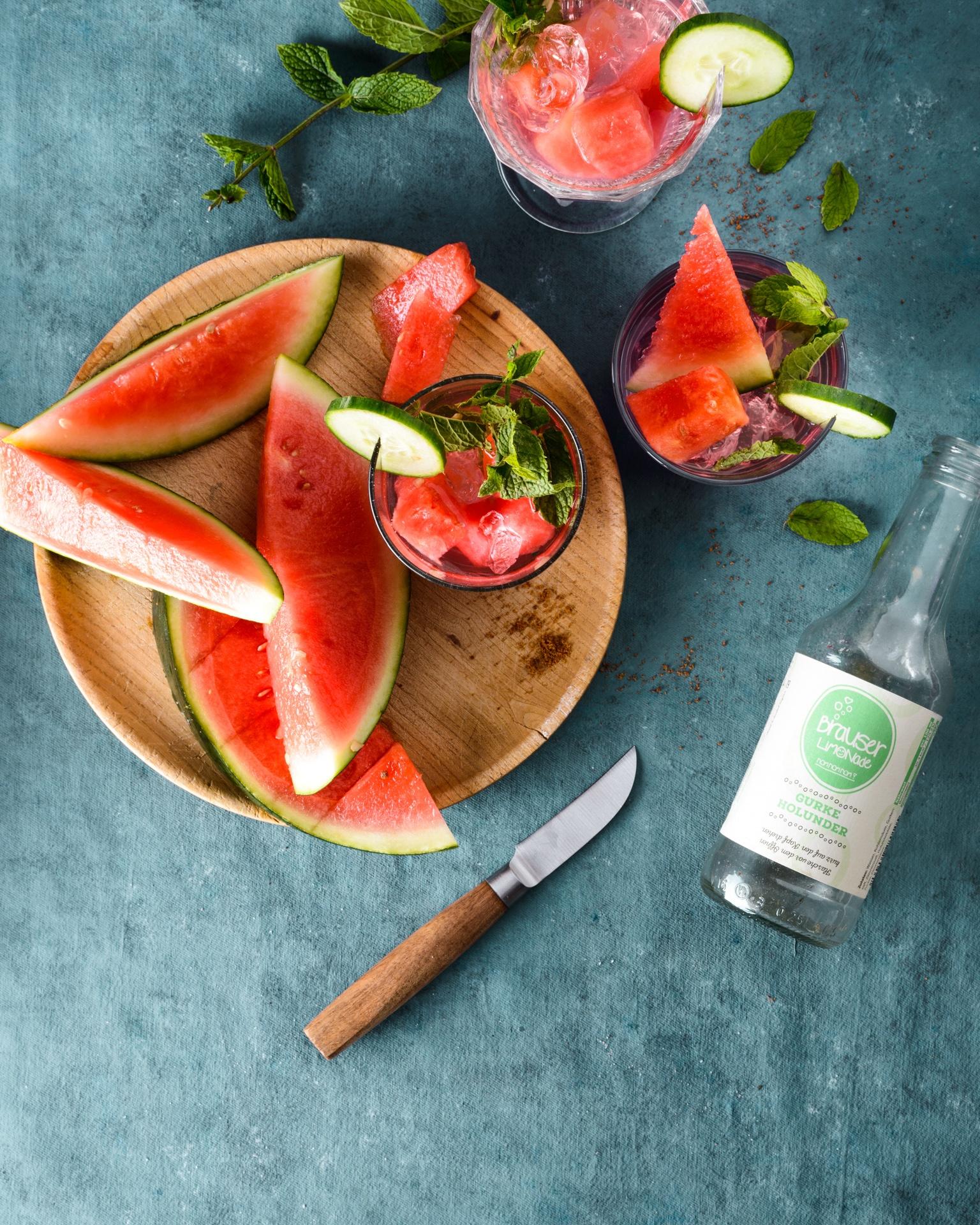 Wassermelonen-Bowle