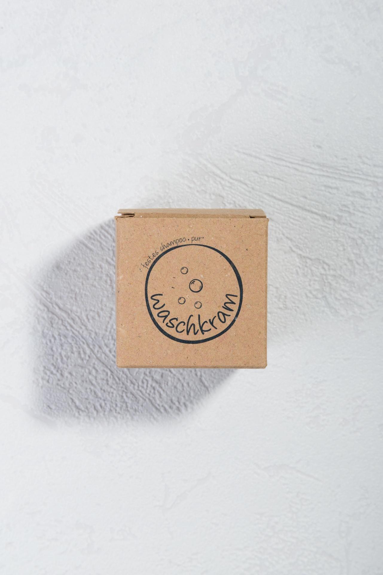 Natürlich festes Shampoo von Waschkram