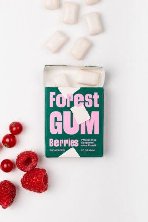 Forest Gum Berries Himbeeren offen Produktbild Kaugummi