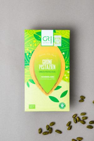 Weiße Schokolade mit grüne Pistazien von Georgia Ramon Produktbild