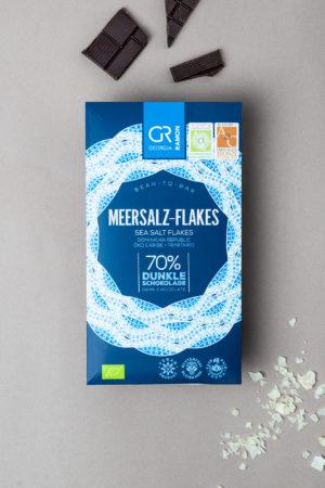 Meersalz Flakes Bean to Bar Dunkle Schokolade georgia ramon Bruch