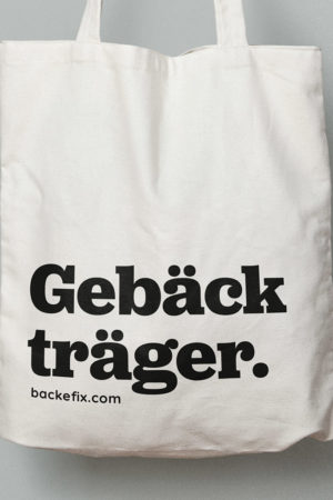 Backefix Jutebeutel Gebäck träger Produktbild