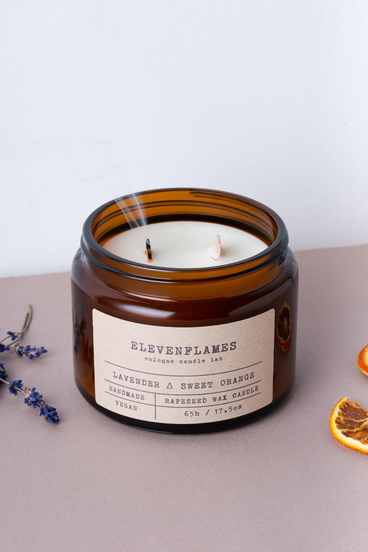 rapskerze lavendel sweet orange